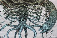 Alexis Diaz London Street Art mural The Cage detail East End Brick Lane