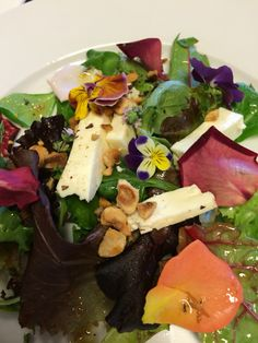 Homemade flower salad