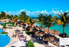 BOOKING HELLO CARIBE.  ¿Cuál es el plan para hoy? ¿Playa, pisicina o ambos? 😉 #HelloExperience #RivieraMaya