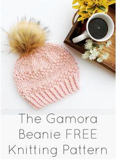 Easy Knitting Pattern/ Beginner Hat Pattern/ Beginner Beanie/ Easy Toque Knitted Women's Beanie/ The Gamora Beanie/ Seed Stitch/ Bulky Yarn Easy Knitting, Knitting For Beginners, Loom Knitting, Beginner Knitting Projects, Crochet Beanie Pattern, Knit Or Crochet, Crochet Hats, Free Crochet, Baby Knitting Patterns