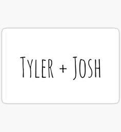 Tyler + Josh (Twenty One Pilots) Sticker