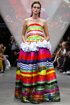 Fyodor Golan SS15 - Such a fun collection full of colour, love this stripey dress x