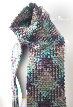 If you haven't seen this crochet trend, you are about to be amazed! Variegated yarn just got a whole lot better looking with the planned color pooling technique! Many variegated yarns have a repeating sequence of colors. Patterns like this one can be created with simple stitches! This is Bernat Softee Chunky yarn in Shadow. With a …