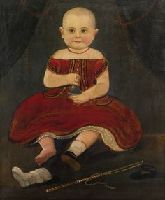 Portrait of a Child in Red Holding a Silver Bell by William Matthew Prior | Art Posters & Prints