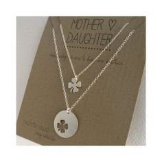 Mother Daughter Necklace Set - lucky 4 leaf clover - mom jewelry