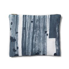 Brushstroke Stripe Zip Pouch