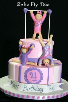 You Have To See Gymnastics Cake By CakesByDee