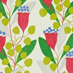Sanderson wallpaper... I will find a spot for this when I get my own house. Love the fresh greens