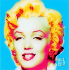 Marilyn in Blue Art on Acrylic at Art.com