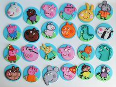 peppa pig fondant cupcake toppers Peppa Pig Birthday Cake, Birthday Cupcakes, Boy Birthday Parties, Baby Birthday, Pig Cupcakes, Cupcakes For Boys, Fondant Cupcake Toppers, George Pig, Spring Desserts