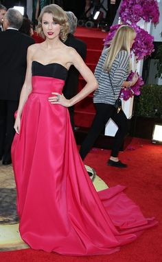 Taylor Swift in Carolina Herrera at the Golden Globes