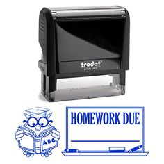 Blue Ink Homework Due Owl Reading School Book Teacher Stamp Self Inking Homework Personalized School Work Stamp Large 2 Lines Customized Unique Gift Personal Classroom Stamper *** Learn more by visiting the image link. Back To School List, Back To School Sales, Personalized Self Inking Stamps, Signature Stamp, Address Stamp, School Supplies, Customized Gifts, Homework