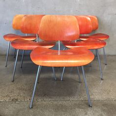 Set Of Six Herman Miller Eames Chairs