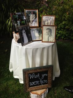 """DIY Wedding """"In Memory of"""" Idea to remember loved ones that have passed."""