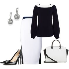 A fashion look from January 2015 featuring Oscar de la Renta blouses, Altuzarra skirts and Jimmy Choo pumps. Browse and shop related looks.