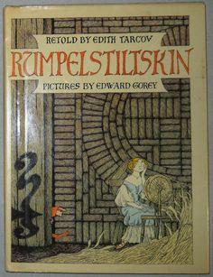 Rumpelstiltskin with Illustrations by Edward Gorey, First American Edition - $50.00