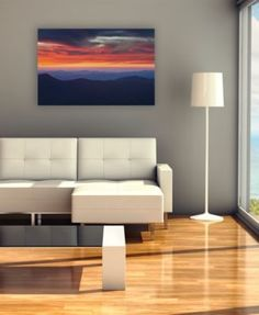 """'Mount Mitchell Sunset' Canvas Print by Pierre Leclerc, 18"""" x 32"""""""