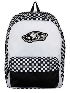 76c96f3584 Vans Realm Backpack - Black   White Checkerboard