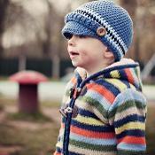 Crocheted Children's Newsboy Hat - via @Craftsy