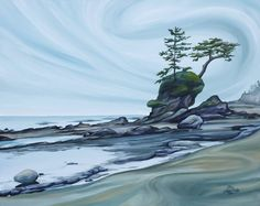 """On the Coast"" by Jen Tinsley Matted print to fit a 8 x 10"" frame: $20 Matted print to fit an 11 x 14"" frame: $30"