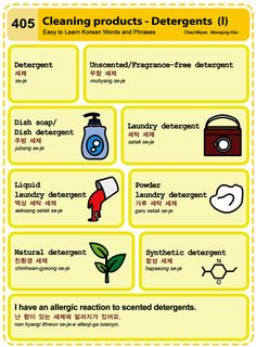 (405) Cleaning products ― Detergents (I)
