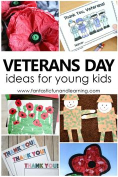Teaching Kids About Veterans Day: Resources and Ideas - - Simple ways to involve children in Veterans Day activities. Activity ideas, teaching resources and free printables for teaching kids about Veterans Day. Remembrance Day Activities, Remembrance Day Art, Veterans Day Activities, Veterans Day Gifts, Veterans Day For Kids, Kindergarten Worksheets, Kindergarten Activities, Preschool Activities, Preschool Printables