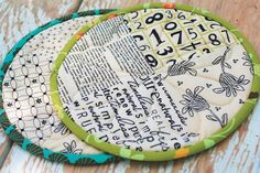 potholder made from scraps of fabric