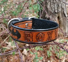 ae48b4d2eb14 The Roxy - Custom Made Super Hero Bat Leather Dog Collar - Hand Tooled