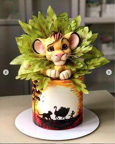 Lion King Theme, Lion King Party, Lion King Cupcakes, Lion Cakes, Lion King Baby Shower, Lion King Birthday, Safari Cakes, Jungle Cake, Baby Birthday Cakes