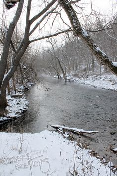 Snowy James River near Springfield, MO