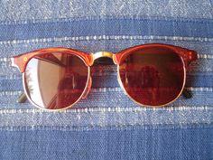 Lunettes de soleil rouges style rétro vintage 50s 60s 70s hippie goa  accessoires a6ef05aea61c