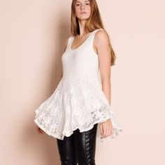 Bare Anthology Tops - LOWEST 💜 Lace Flare Tank Top