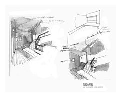 BUILDING REHAB IDEA COMPETITION - Project sketches - #noarq #competition #sketches by José Carlos Nunes de Oliveira - © NOARQ - Photography by NOARQ