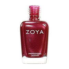 Zoya Nail Polish Isabel  Red Nail Polish Metallic Nail Polish