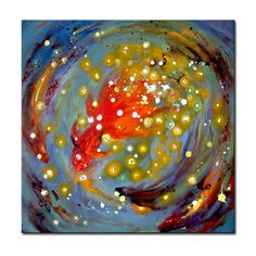 Gallery canvas art decor abstract hand-painted stretched