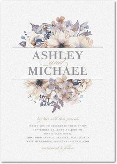 Watercolor Bouquet - Shimmer Wedding Invitations - Lady Jae - Lilac - Purple : F. Invitation Baby Shower, Card Invitation, Floral Invitation, Invitation Ideas, Wedding Pins, Wedding Paper, Wedding Cards, Wedding Venues, Trendy Wedding