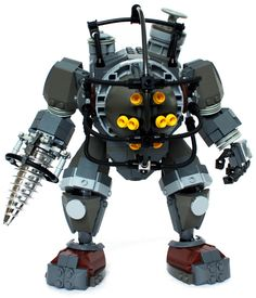 Custom LEGO BioShock Big Daddy Sculpture