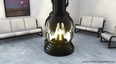 Darth Vader's meditation chamber fireplace