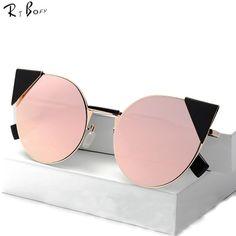 dc0e5096cbbf 2017 New Fashion Luxury Cat Eye Sunglasses Women Brand Designer Coating Sun  Glasses Female Oculos De