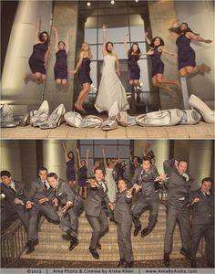 ©2013 | www.AmaByAisha.com | Houston Wedding | Fun wedding party shot