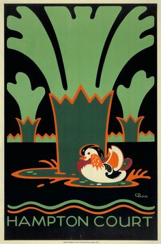 Charles Paine, Hampton Court poster, 1921