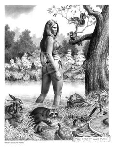 The Forest Has Eyes by Larry Elmore.