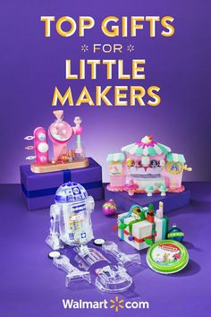 This Christmas, give the gifts that help kids create and learn. These must-have toys are sure to keep your little maker busy throughout the holiday season. Walmart has the prices you love. Shop today.   Top Gifts for Little Makers include: LittleBits Star Wars Droid Inventor Kit, LOL Surprise Fizz Factory, Num Noms Nail Polish Maker, Mayka Construction Tape.