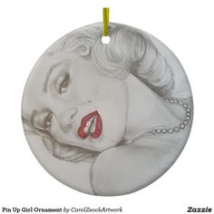Pin Up Girl Ornament