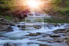 Fotobehang Montain rivier