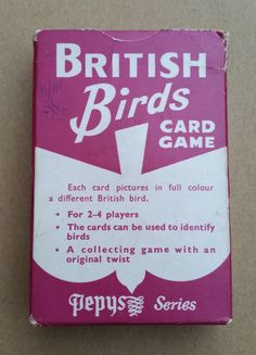 A Very Good Vintage Pepys Card Game - British Birds. British Birds Card Game - Vintage Card Game By Pepys, Castell Brothers Ltd. by OnyxCollectables on Etsy