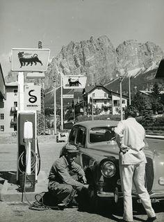 agip stazione servizio anni 60