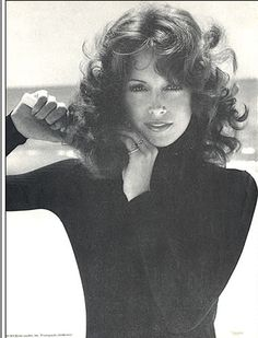 Karen Graham for Estee Lauder, 1971. Hair is curled with hot rollers