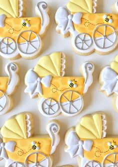 The best baby shower cookies for boy babies, baby shower cookies for girl babies and neutral baby shower cookies. From decorated baby shower cookies with royal icing, fondant baby shower cookies, simple baby shower cookies & so much more! Duck Cookies, Baby Girl Cookies, Bear Cookies, Fancy Cookies, Baby Shower Cookies, Royal Icing Cookies, Custom Cookies, Summer Cookies, Valentine Cookies