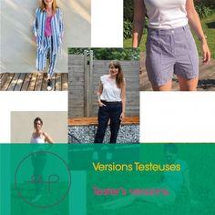 Opian sewing pattern - Vaulion Trousers and Shorts / Patron de couture Opian - Pantalon et Short Vaulion Sewing Hacks, Sewing Patterns, Capri Pants, Trousers, Shorts, Fabric, Blog, Inspiration, Fashion